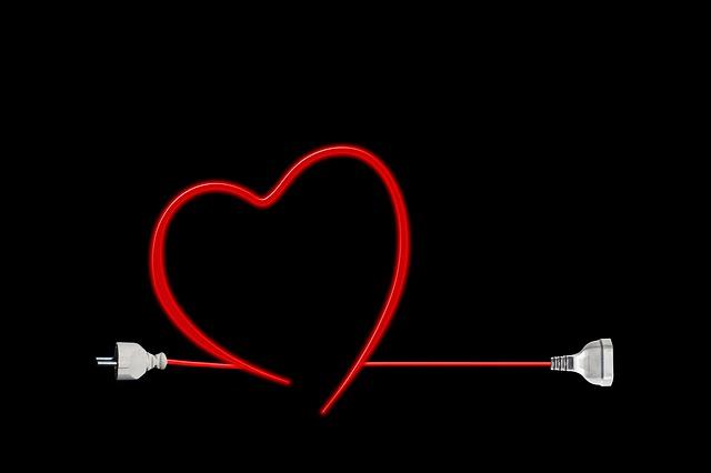 zástrčka ve tvaru srdce